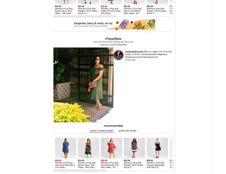 WWW Bardot Olive Dress on Target Website