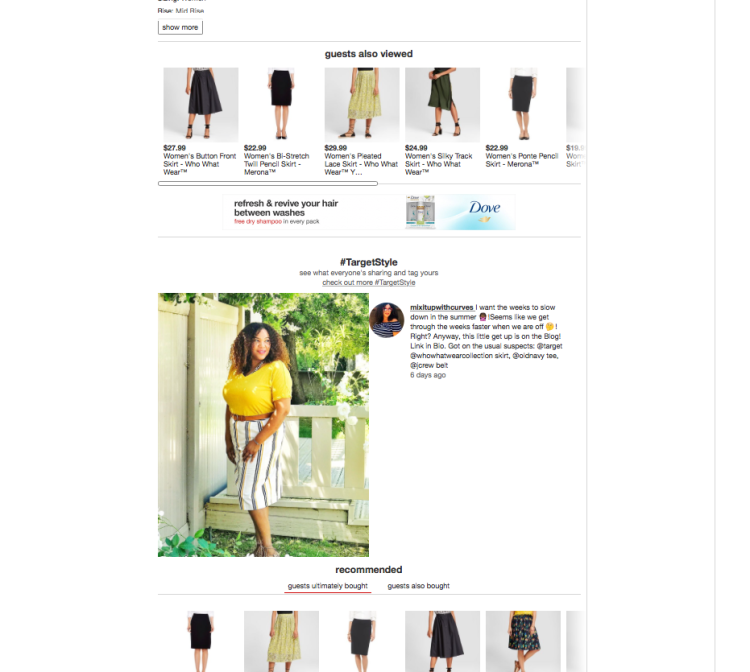 WWW Striped Skirt Target Website