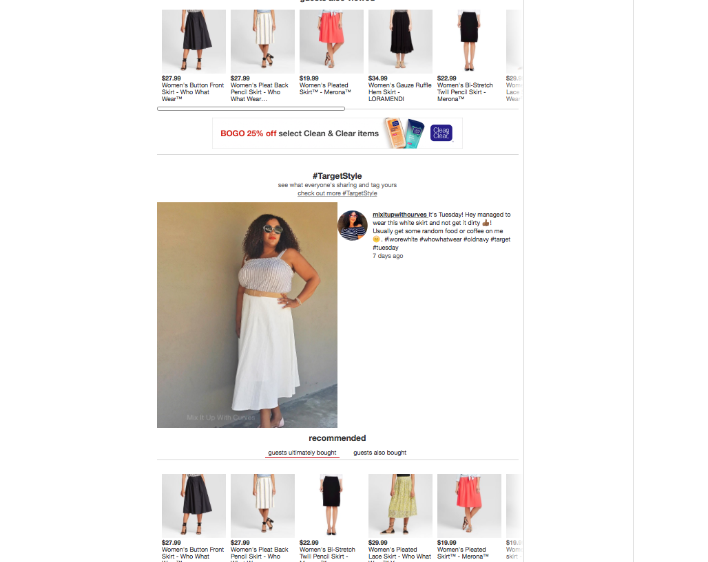 WWW White Skirt Target Website