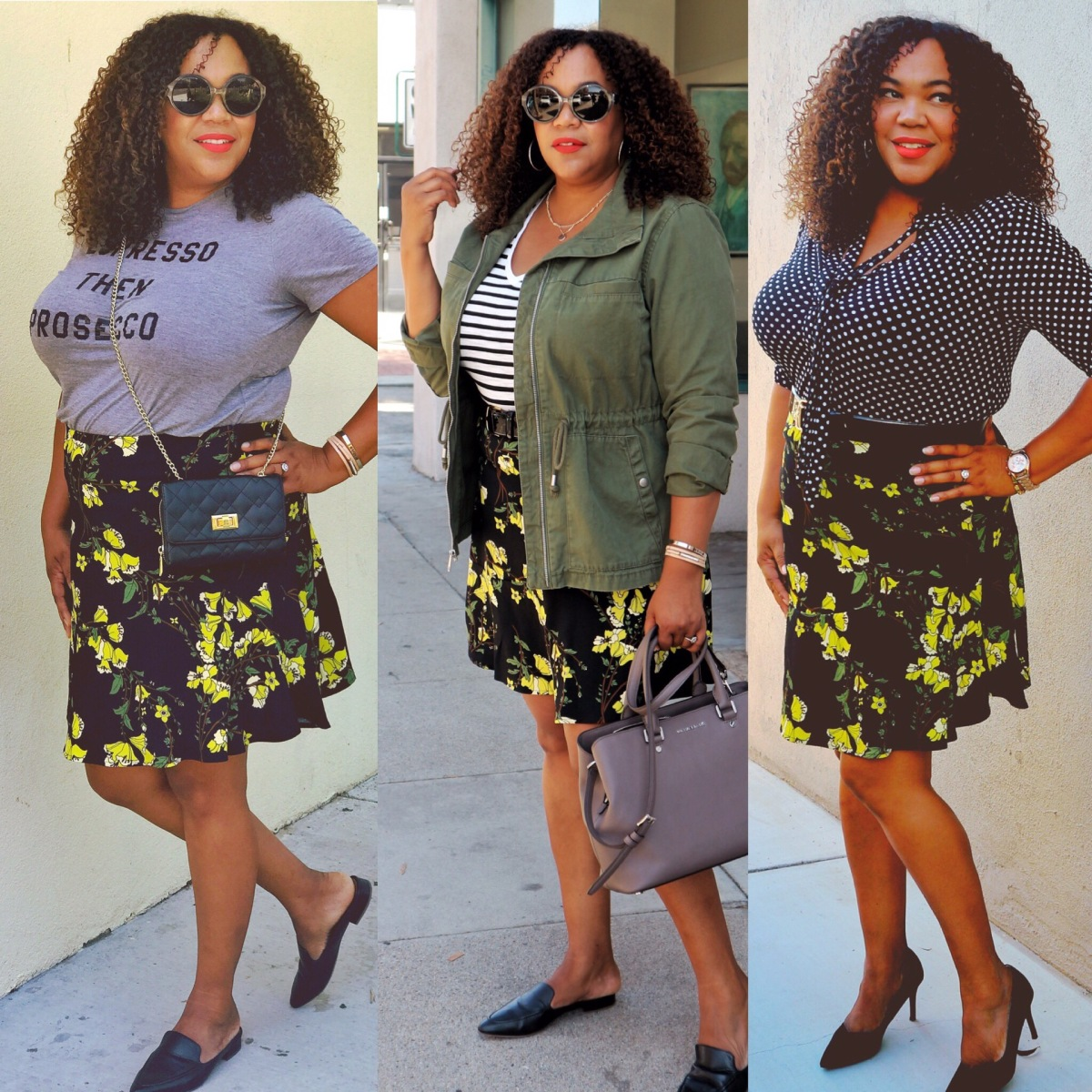 A Floral Skirt Worn Three Ways