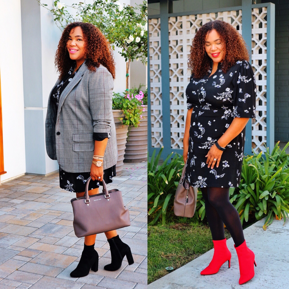 Blue Floral Dress Styled Two Ways