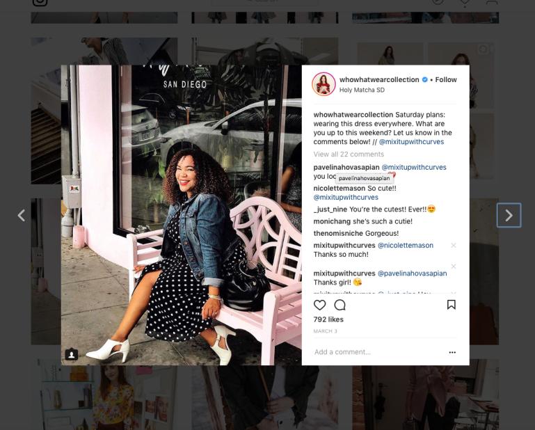 WWW Polka Dot Dress Instagram Feature