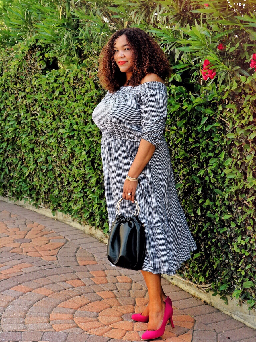Midi Off-The-Shoulder Dresses for Curves